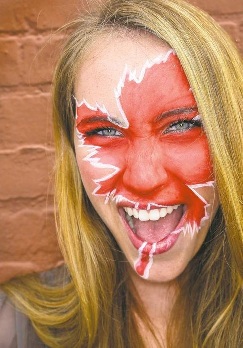 Canada Day Facepaint