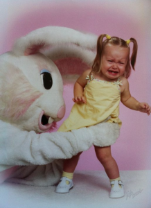 Let the child go, demon bunny!
