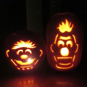 Halloween costume pumpkins
