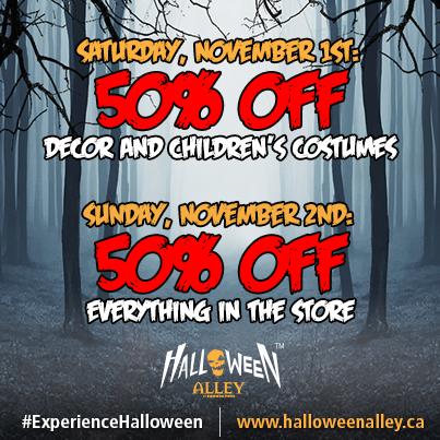 Halloween Store Canada Sale