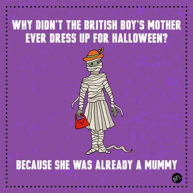 Mummy Halloween Joke
