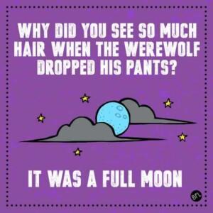 Werewolf Halloween Joke