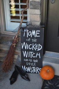 Halloween Quote on a blackboard