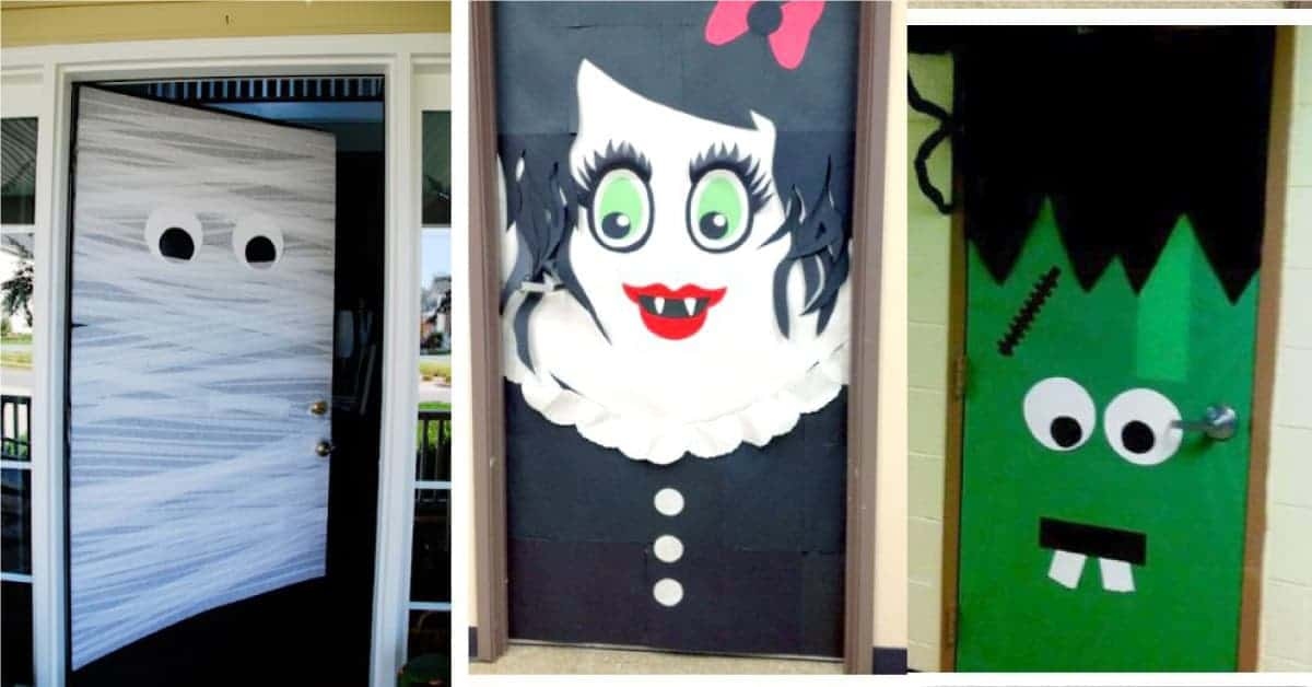 Halloween door decoration DIY