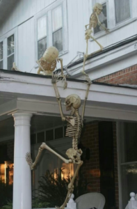 houses in Canada halloween decoration