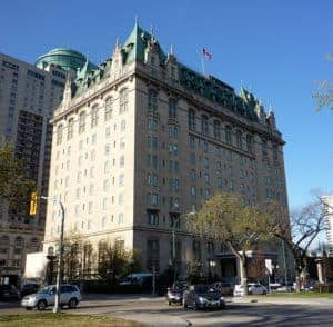 The Fort Garry Hotel in Downtown Winnipeg, Manitoba
