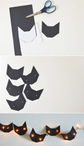 Halloween DIY Cat string lights