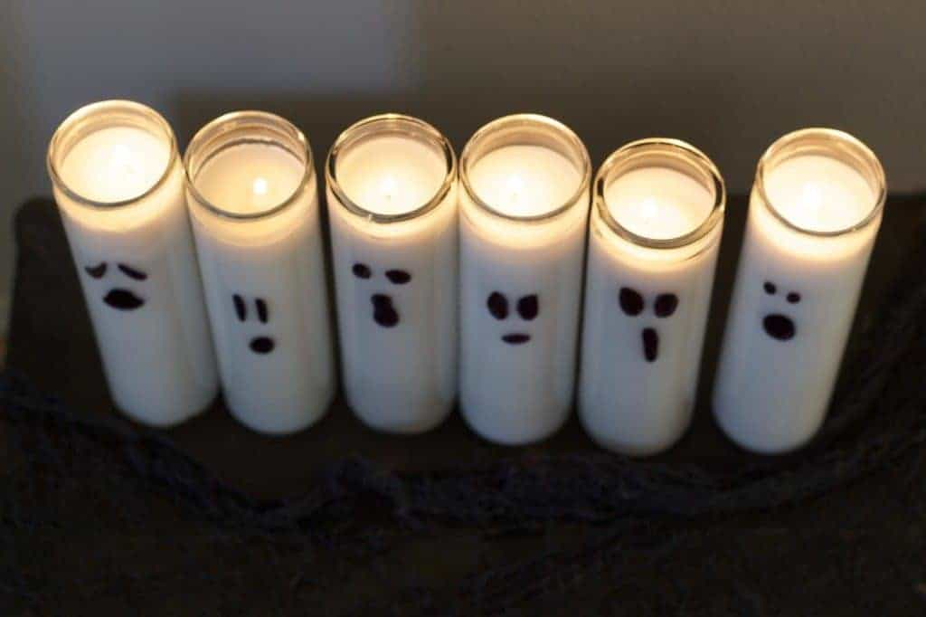 Halloween DIY Ghost Candles