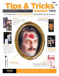 Halloween printable makeup tutorials