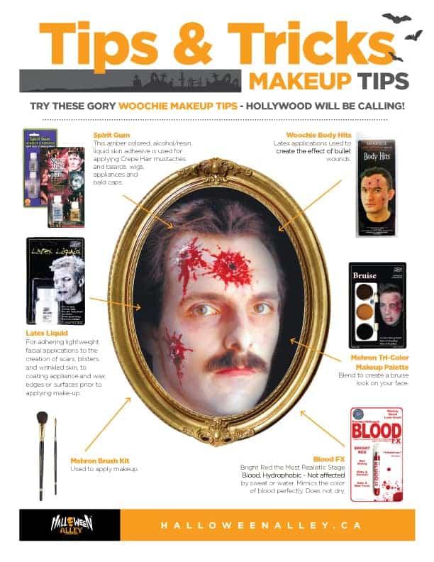 Halloween printable makeup tutorials
