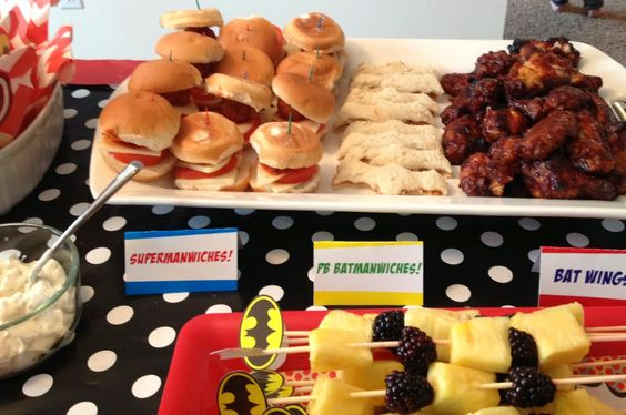 Superhero Snacks Ideas