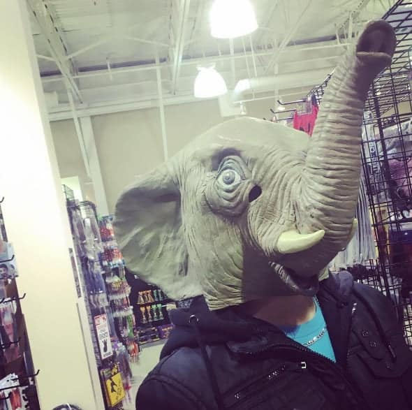 halloween elephant head