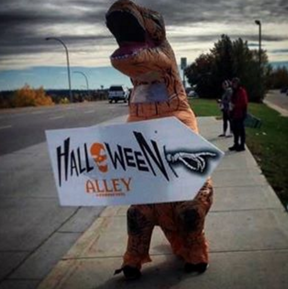 trex halloween alley