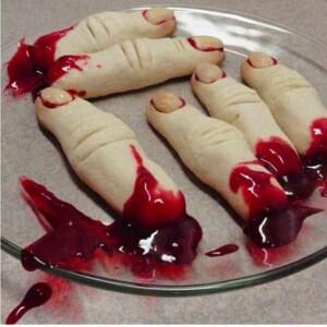 Halloween baked fingers