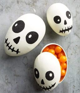 Halloween decorations - skeleton easter eggs