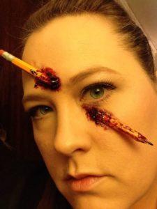 Pencil Through The Face Makeup