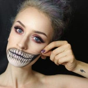 X-Ray Halloween Makeup