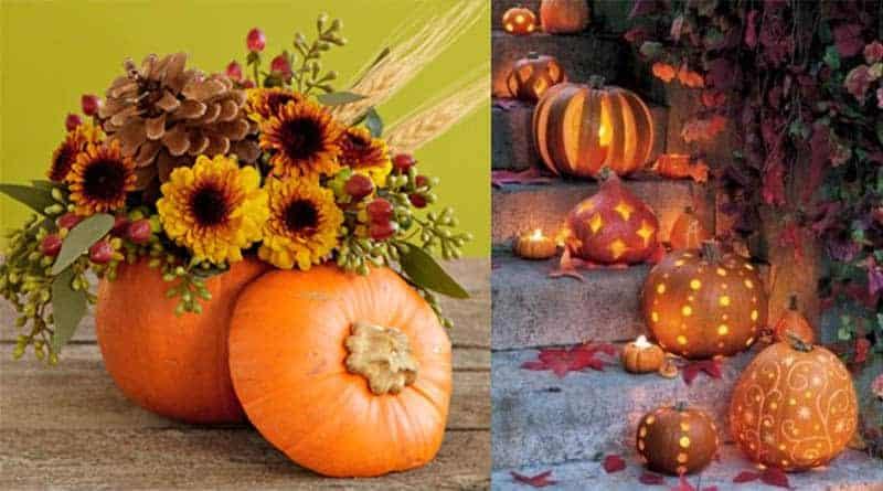 Pretty Pumpkin Displays