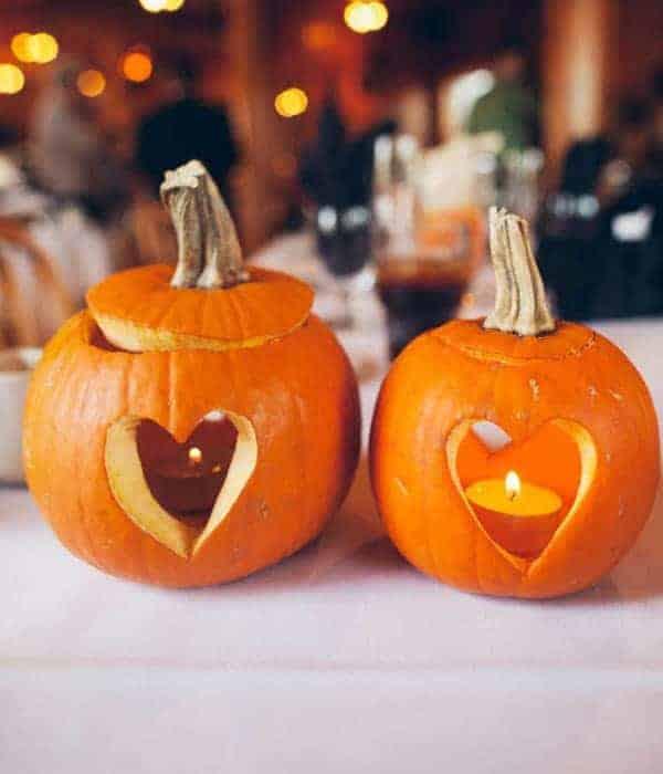 Heart pumpkins