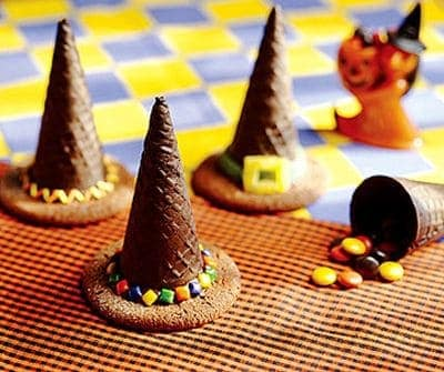 Halloween Wafer Witch Hats
