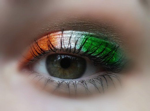 Irish flag eyeshadow