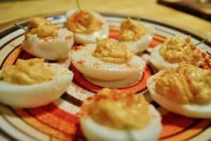 pleasantly-pumpkin-devilled-eggs